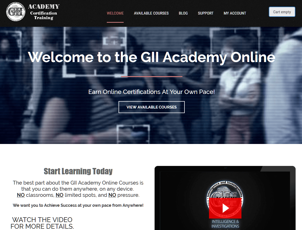 Gii pii intelligence and investigations learn more about gii academy xflitez Choice Image