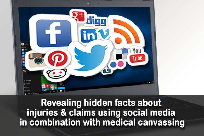 Revealing Hidden Facts about Injuries and Claims using Social Media in Combination with Medical Canvassing.